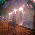 Instantánea en la calle, parecía la preparación de una boda!